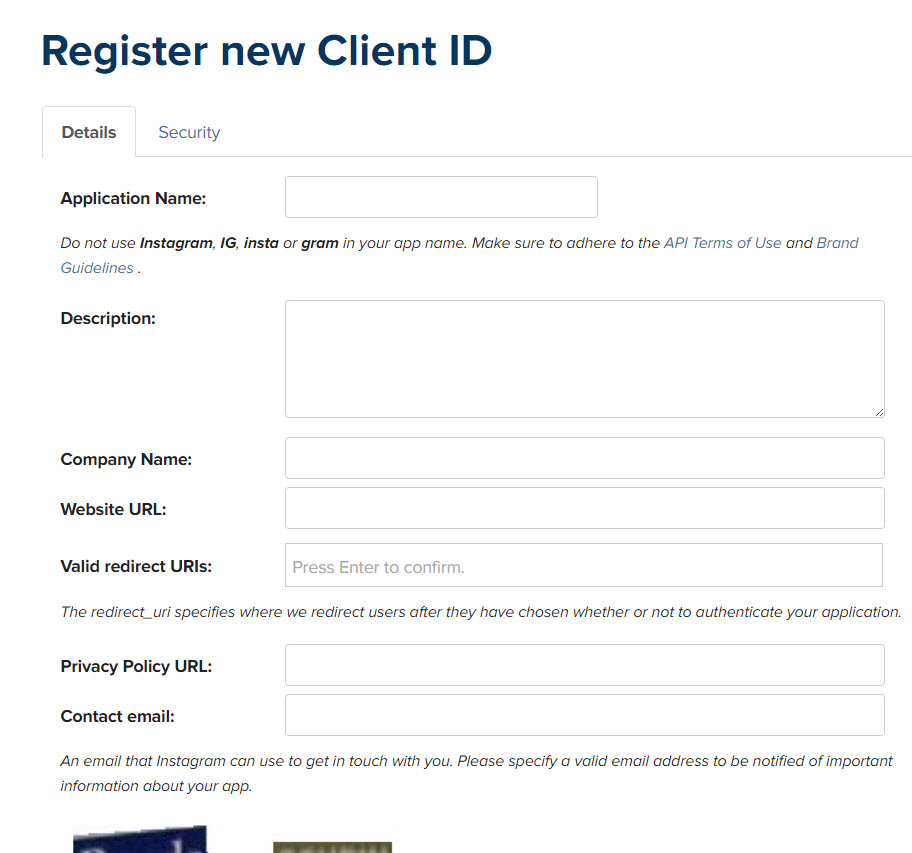 instagram-register-new-client-id
