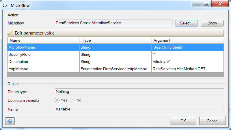 mendix-rest-create-microflow-service-action-settings