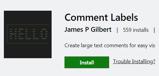VS Code Comment Labels Extension